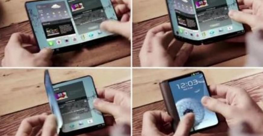 سعر خيالي.. سامسونج تكشف عن أول هاتف «قابل للطي»