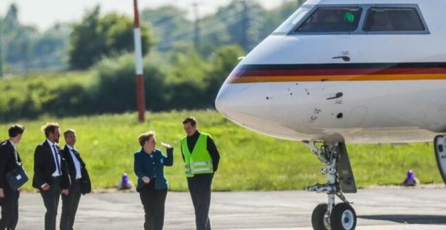 طائرة المستشارة الألمانية
