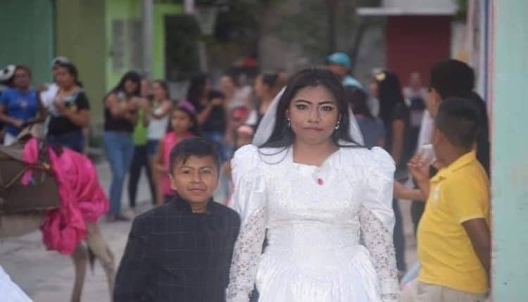 بالصور: فتاة تتزوج من طفل بالمكسيك.. ومفاجأة بشأن العريس