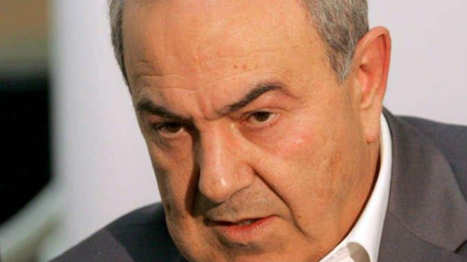 اياد علاوي..هل وضعته صواريخ حماس على الرف الإسرائيلي؟