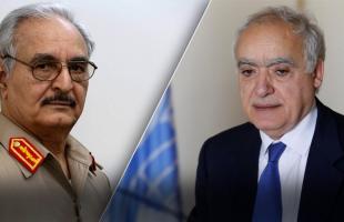 حفتر يتهم المبعوث الأممي بالإنحياز في النزاع الليبي