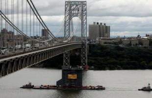 """""""إنذار بقنبلة"""" يغلق جسر جورج واشنطن في نيويورك"""