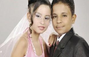 بعد خطوبة 6 سنوات.. أصغر عروسين في مصر يدخلان القفص الذهبي (صور)