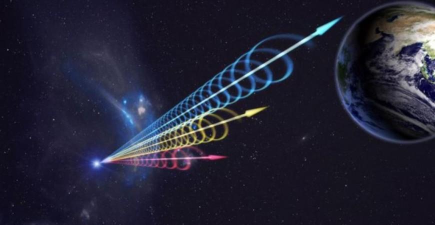 تصميم جينجوان يو من قبة بكين السماوية يوضح وصول النبضات الراديوية السريعة إلى الأرض (يوريك ألرت)