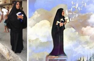 """أيقونة النساء العراقيات """"بائعة المناديل"""" تعود من جديد.. هذه المرة بقوارير المياه"""