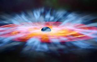 ثلاثة ثقوب سوداء عملاقة تستعد للتصادم