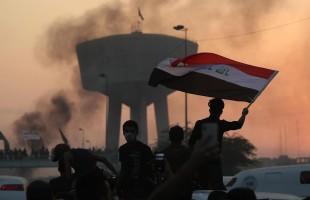 بغداد: قوات الامن تقمع بعنف متظاهرين عند مدخل المنطقة الخضراء