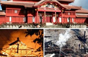 حريق ضخم يلتهم قصر ياباني بُني منذ 600 عام.. والشرطة تكشف السبب