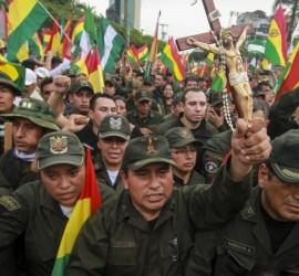محتجون يستولون على سفارة فنزويلا في العاصمة البوليفية